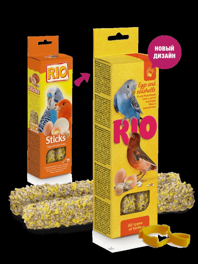 RIO. Палочки для всех видов птиц с яйцом и ракушечником, 2*40гр