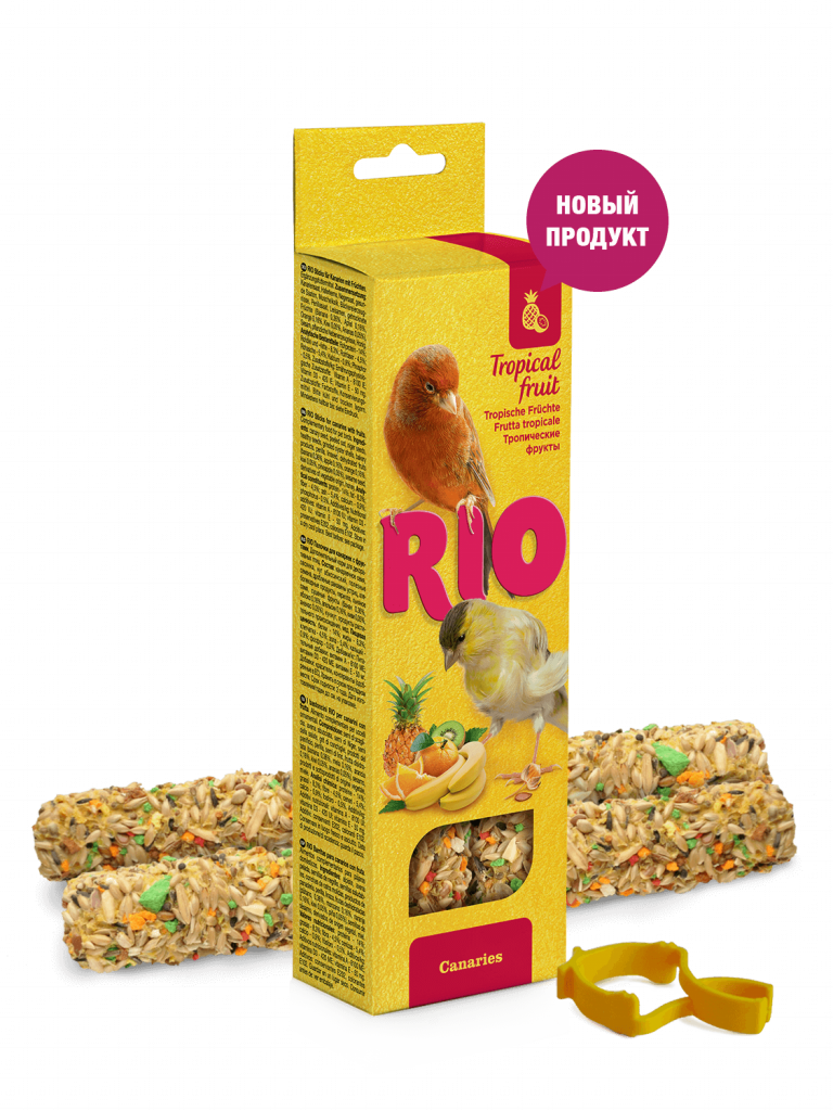 RIO. Палочки для канареек с тропическими фруктами, 2*40гр