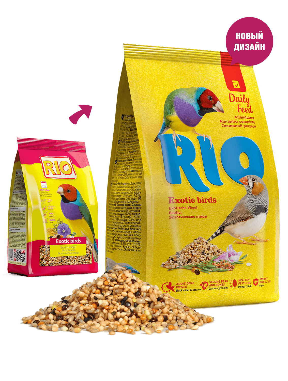 RIO корм для экзотических птиц. Основной рацион, 1кг