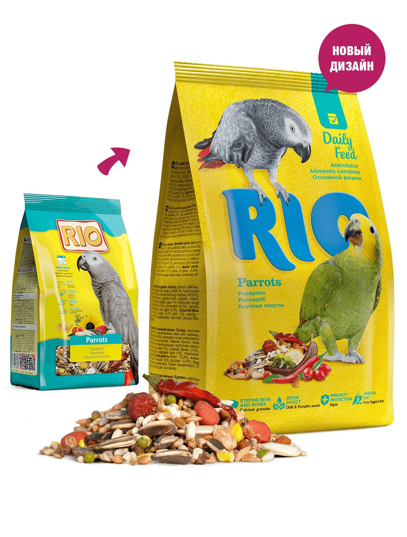 RIO. Корм для крупных попугаев, 1 кг
