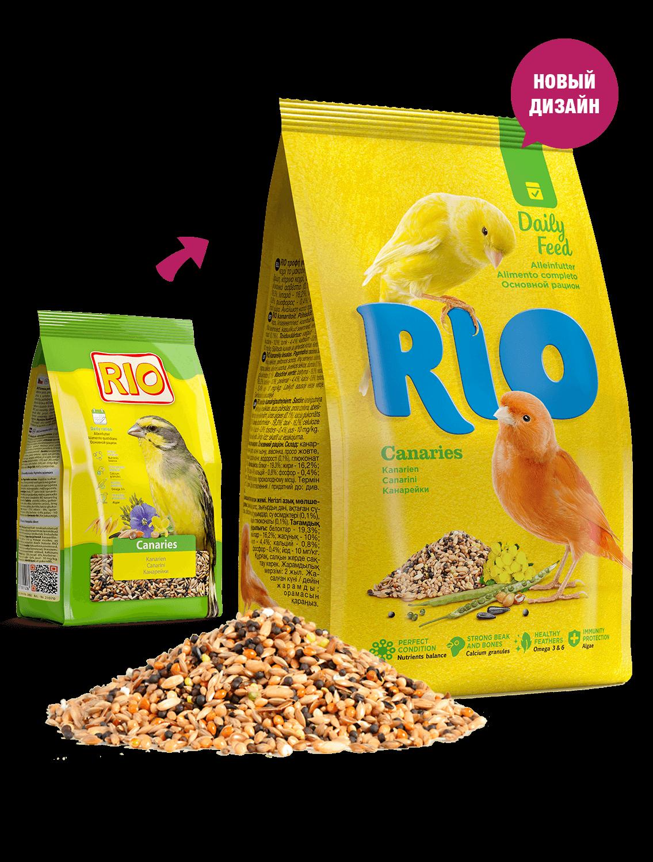 RIO. Корм для канареек. Основной рацион, 1кг