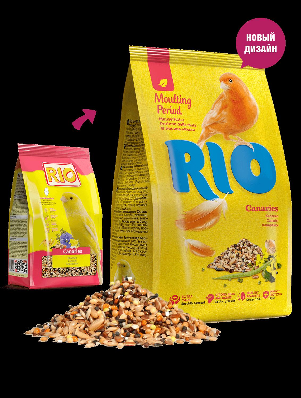 RIO. Корм для канареек. Рацион в период линьки, 500 гр
