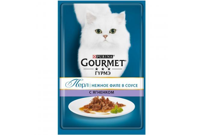 Purina Gourmet Perle, ягнёнок, пауч, 85 гр