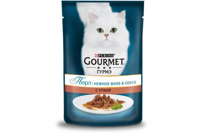 Purina Gourmet Perle, утка, пауч, 85 гр