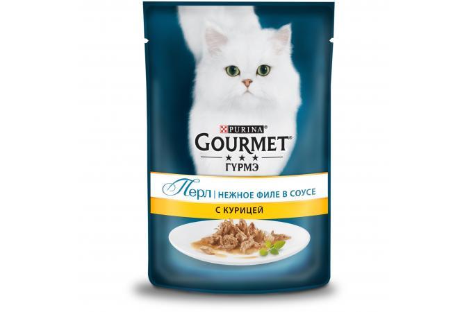 Purina Gourmet Perle, курица, пауч, 85 гр