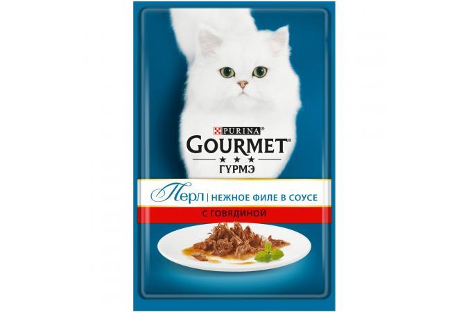 Purina Gourmet Perle, говядина, пауч, 85 гр