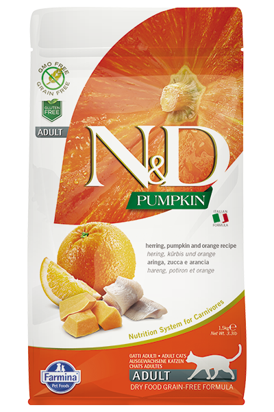 N&D Cat GF Pumpkin Herring, 1,5 кг