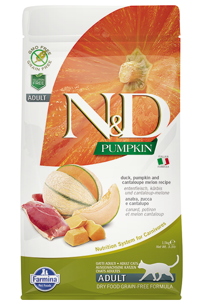 N&D Cat GF Pumpkin Duck, 1,5 кг