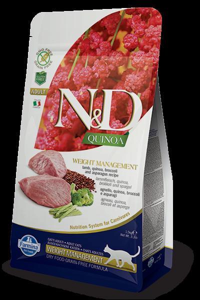N&D Cat Quinoa Weight Management Lamb, 1,5 кг