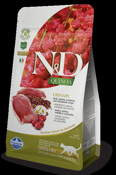 N&D Cat Quinoa Urinary Duck, 1,5 кг