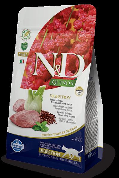 N&D Cat Quinoa Digestion Lamb, 1,5 кг