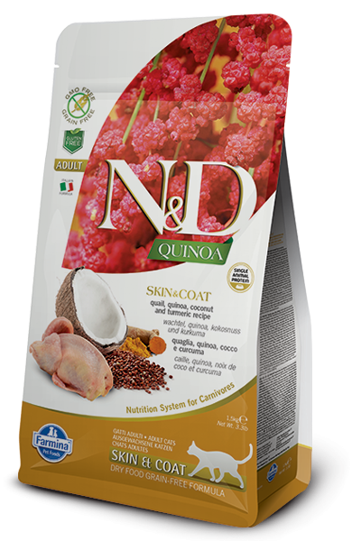 N&D Cat Quinoa Skin&coat Quail, 1,5 кг