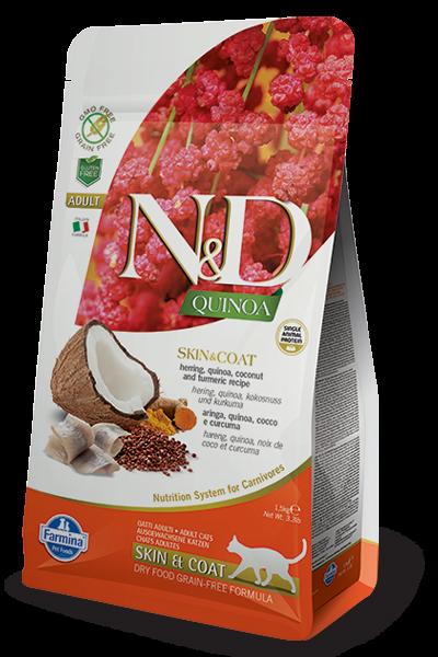 N&D Cat Quinoa Skin&coat Herring, 1,5 кг