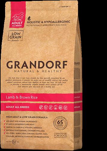 Grandorf Ягнёнок С Рисом Для Взрослых Собак всех Пород 12 кг