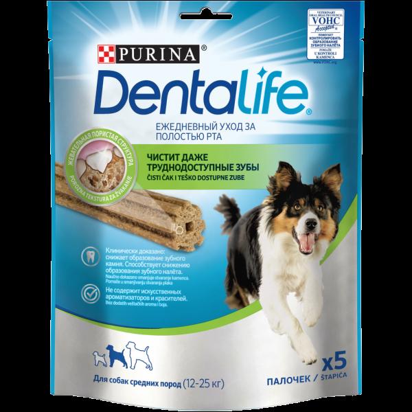 Purina DentaLife для собак средних пород, 115гр