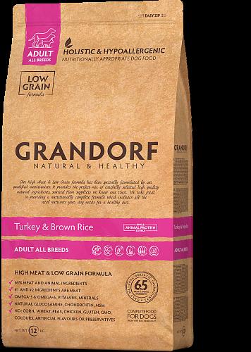 Grandorf Индейка С Бататом Для Взрослых Собак Всех Пород 1 кг