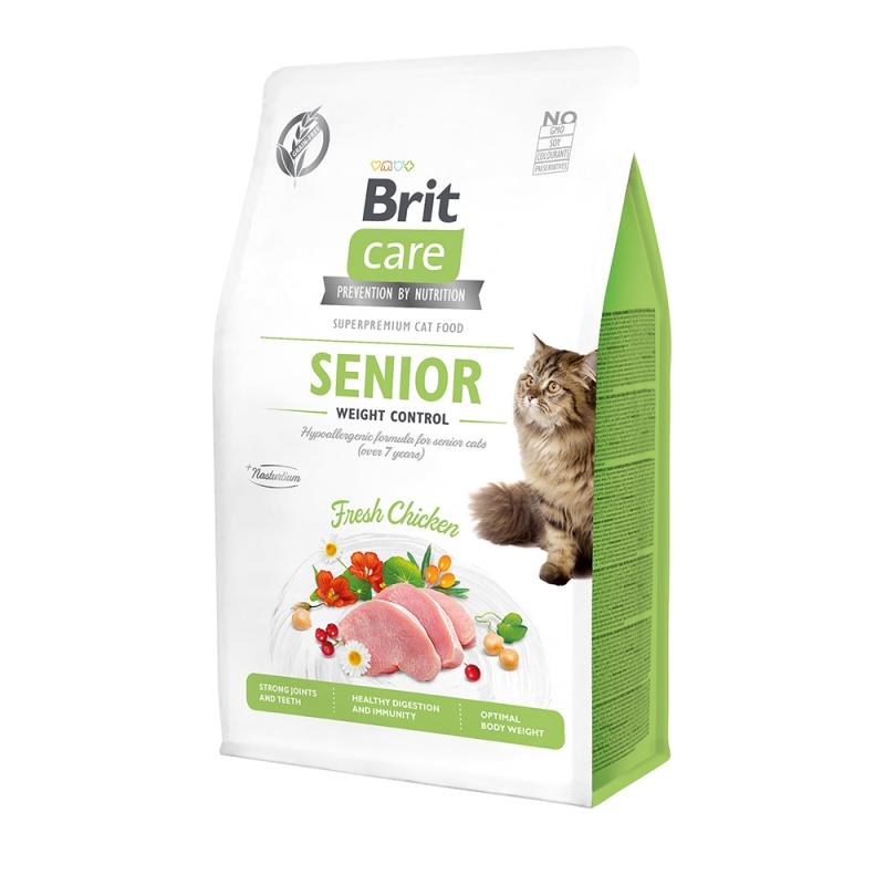 Brit Care Cat GF Senior Weight Control с курицей, 2кг