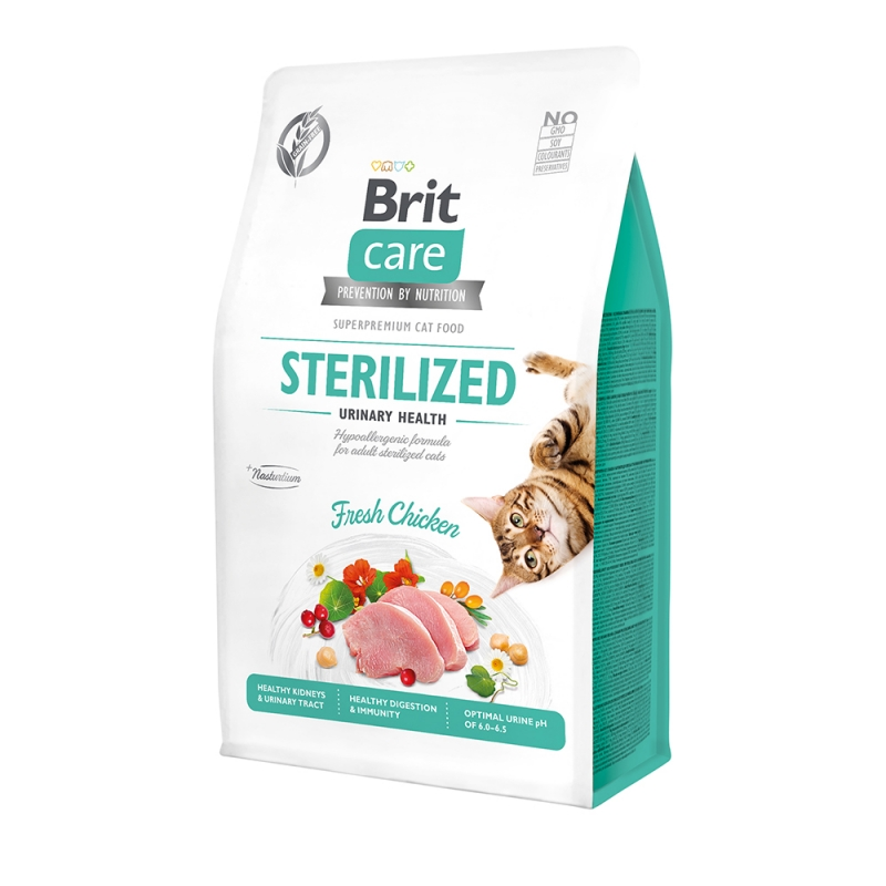 Brit Care Cat GF Sterilized Urinary Health с курицей, 2кг