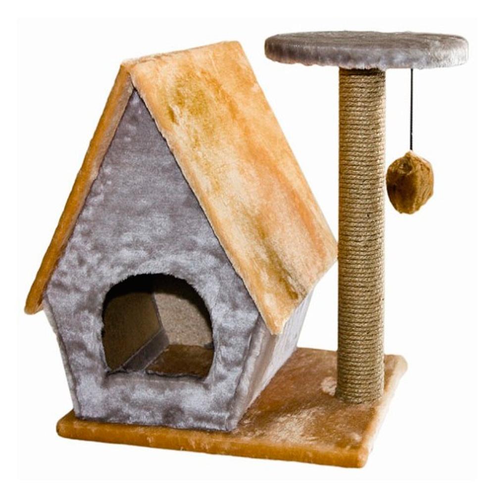 Дарэлл домик для кошек с полкой (8104)