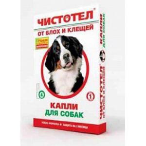 Чистотел Био капли от блох и клещей для собак