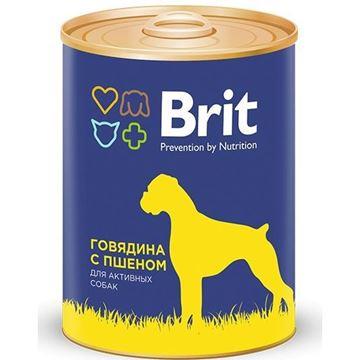 Brit говядина с пшеном  850гр