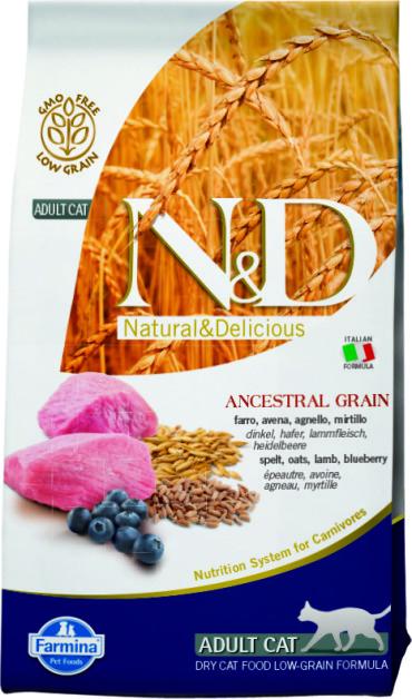 N&D Low Grain Cat Lamb & Blueberry 1,5 кг.