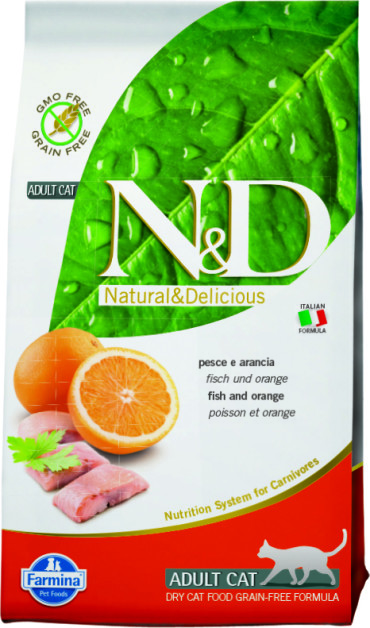 N&D Cat Fish & Orange Adult 10 кг.