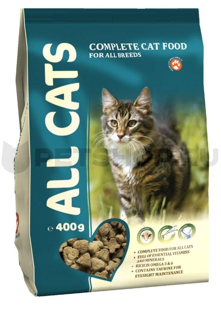 Корм ALL CATS для  взрослых кошек 400 г