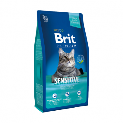 Brit Premium Cat Adult Sensitive Lamb, 8 кг
