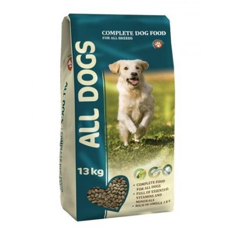 Корм ALL DOGS для  взрослых собак 13кг