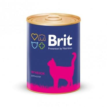 Корм Brit Премиум для котят  Консервы с ягненком 340гр
