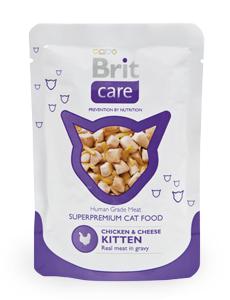 Brit Care Cat Chicken & Cheese KITTEN Pouch 80гр