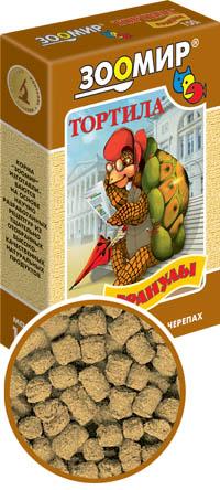 Корм ЗооМир для сухопутных черепах, гранулы Тортила-М, 150 гр.