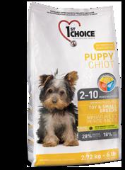 1st Choice для щенков миниатюрных и мелких пород, курица 2,72кг
