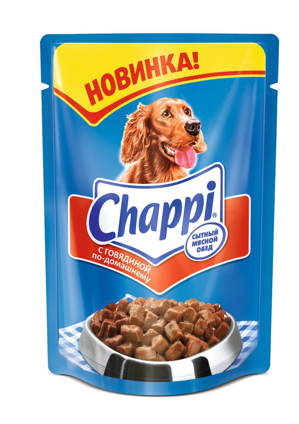 Chappi с говядиной по-домашнему 100 гр