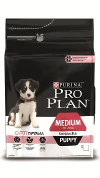 Pro Plan Medium Puppy Sensitive Skin Лосось с рисом 12 кг