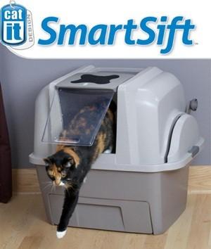 Автоматический закрытый туалет для кошек Catit SmartSift