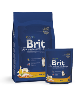 Brit Premium Cat Adult Chicken, 8кг