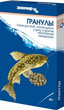 Зоомир корм для рыб Гранулы 40 гр