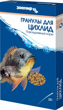 Зоомир корм Гранулы для Цихлид 30 гр