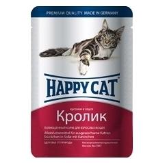 Happy Cat Кролик 85гр ПАУЧ