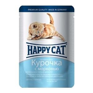 Happy Cat Курочка с морковью 85гр ПАУЧ