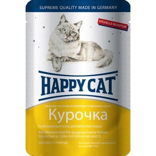 Happy Cat Курочка 85гр ПАУЧ