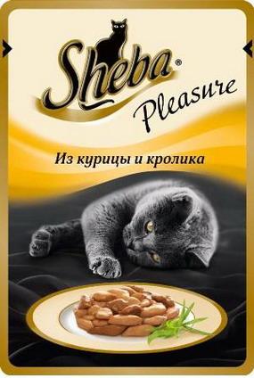Sheba Pleasure с Курицей и Кроликом 85гр