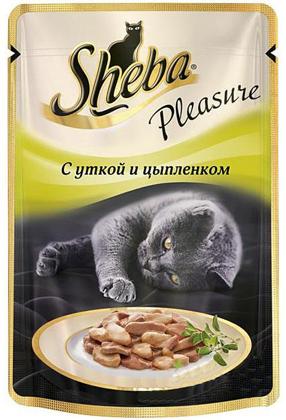 Sheba Pleasure с Уткой и Цыпленком 85гр