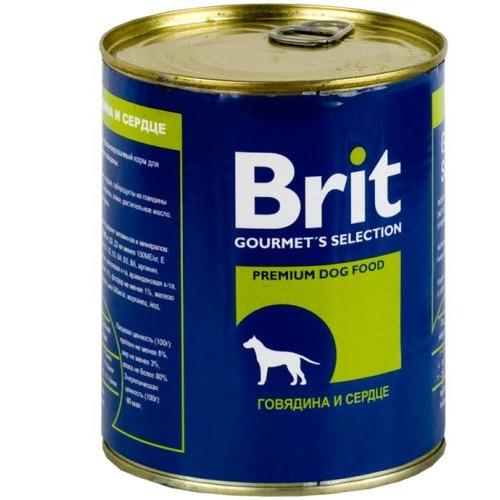 Brit Beef & Heart с Говядиной и Сердцем 850гр