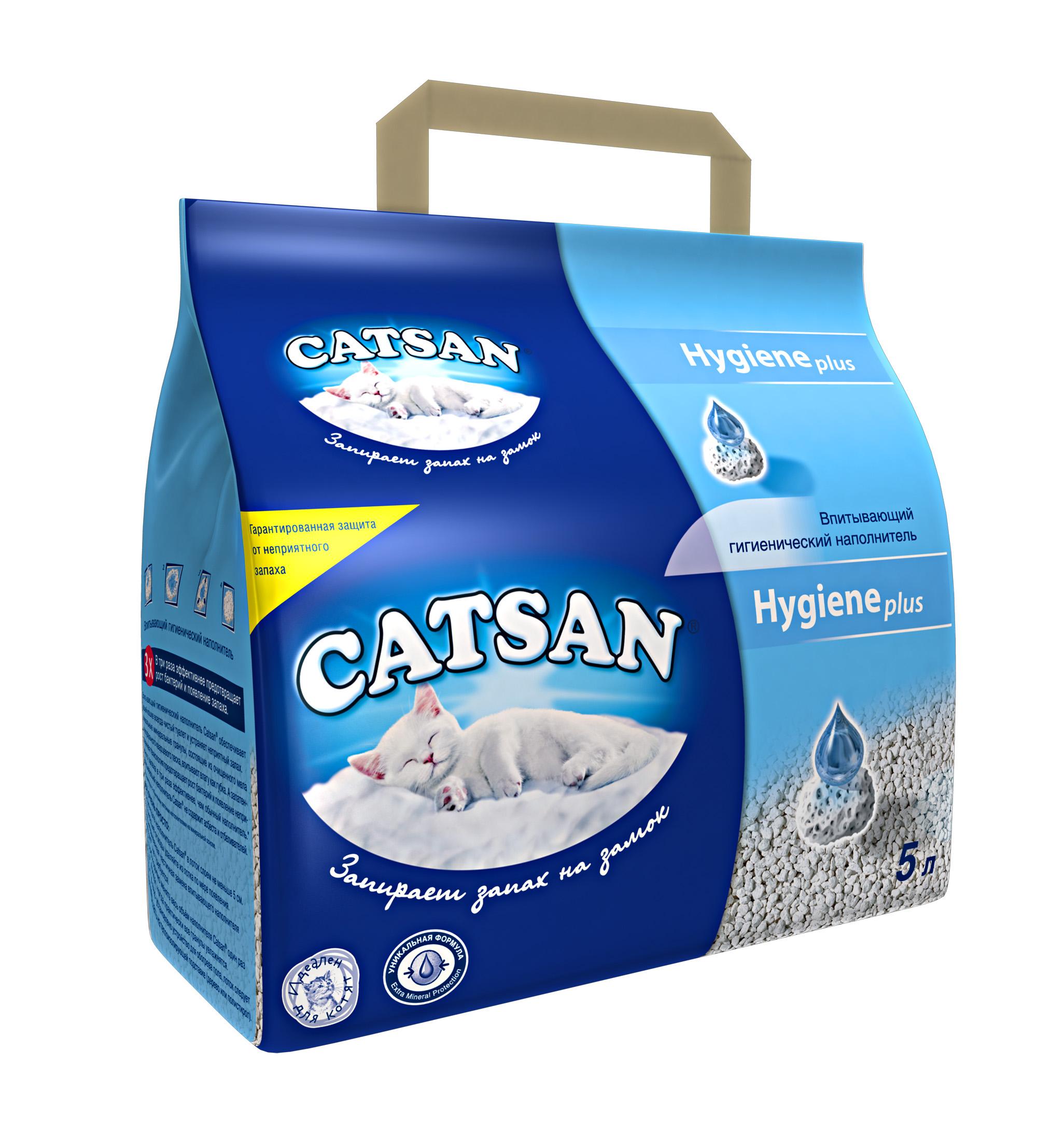 Наполнитель впитывающий Catsan 5 л