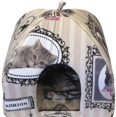 Домик яранга для кошек размер М 42*41*41 см