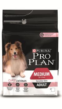 Pro Plan Medium Sensitive Skin Adult Лосось с рисом  3 кг