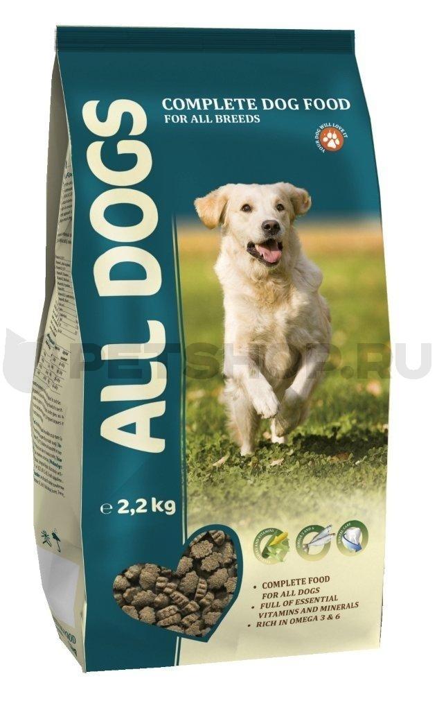 Корм ALL DOGS для  взрослых собак 2.2 кг